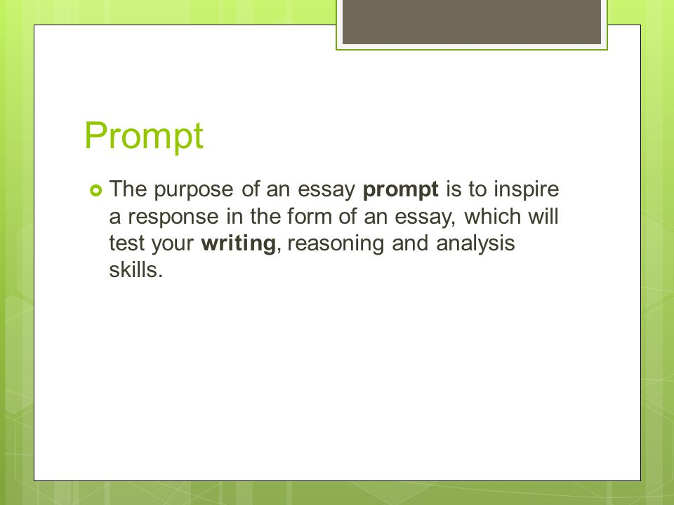 Analyzing an essay prompt