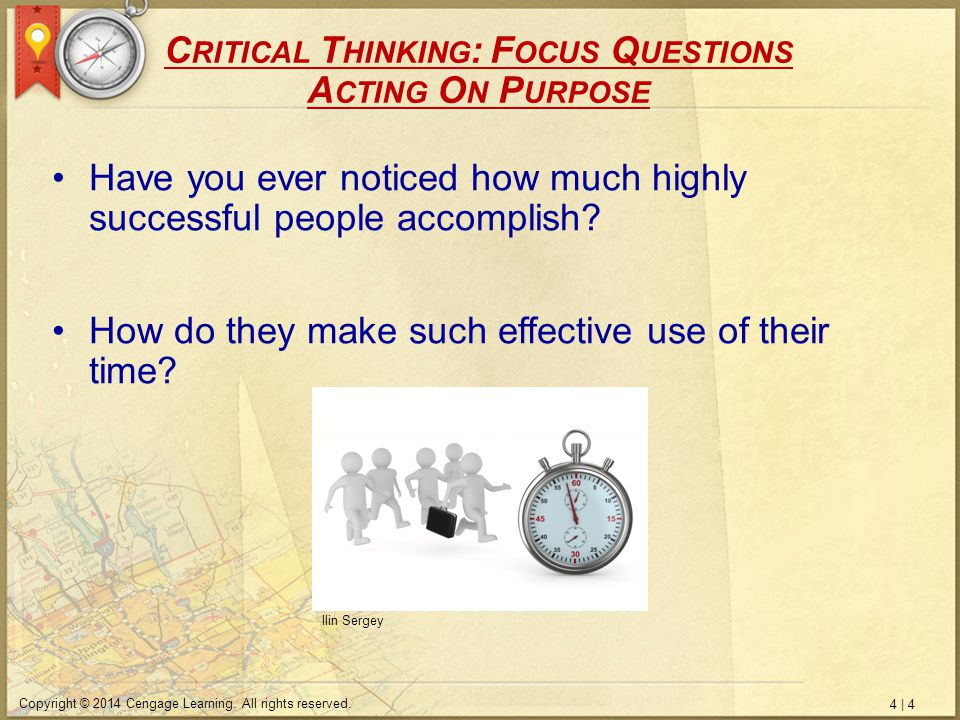 using critical thinking to find your purpose