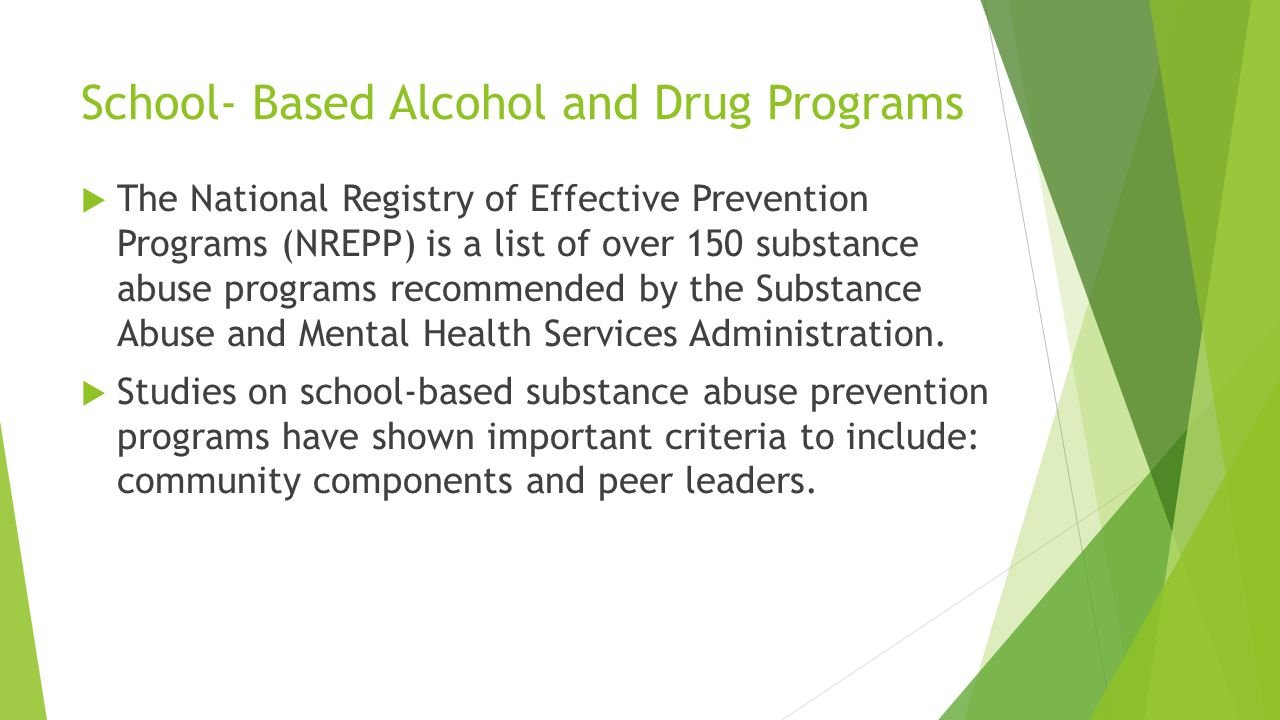 School- Based Alcohol and Drug Programs