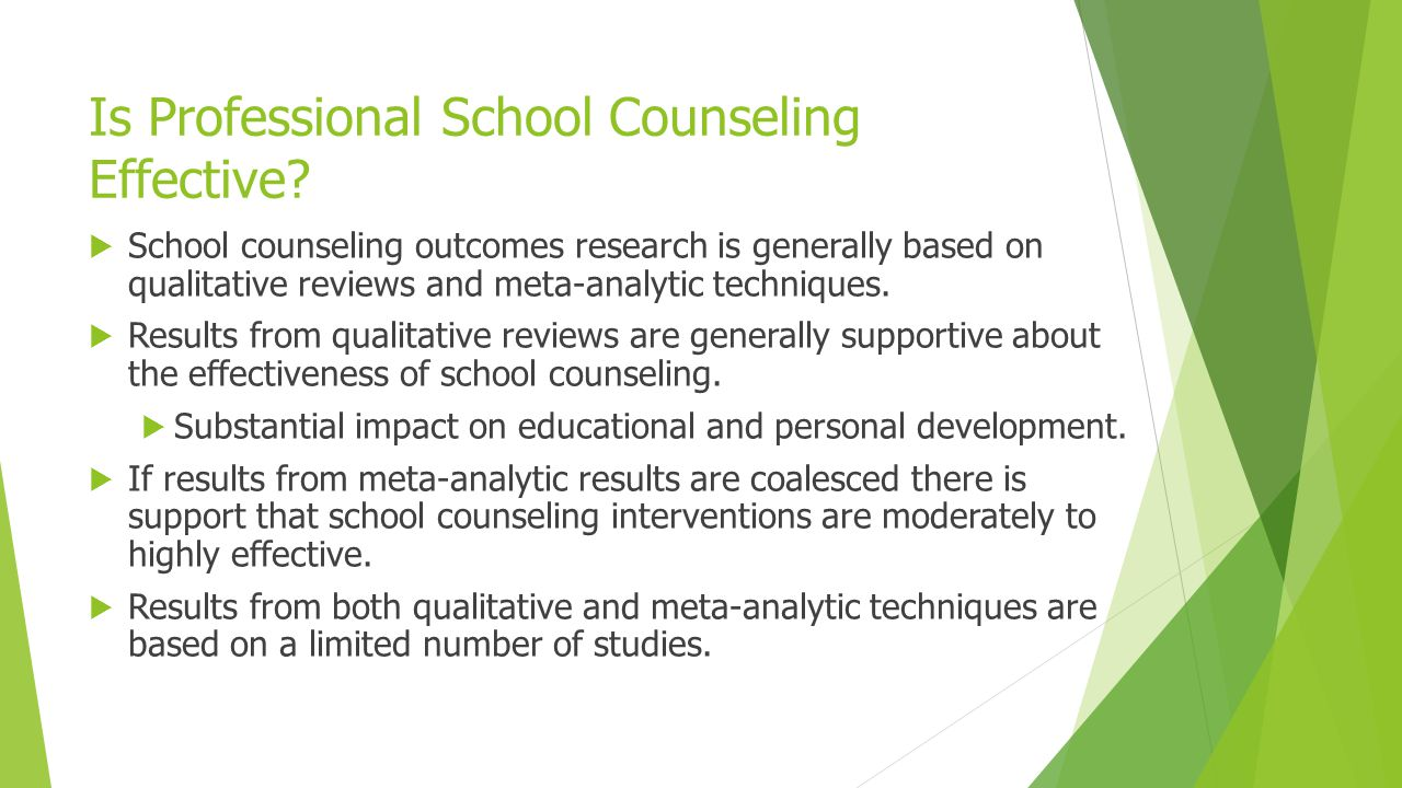 Is Professional School Counseling Effective
