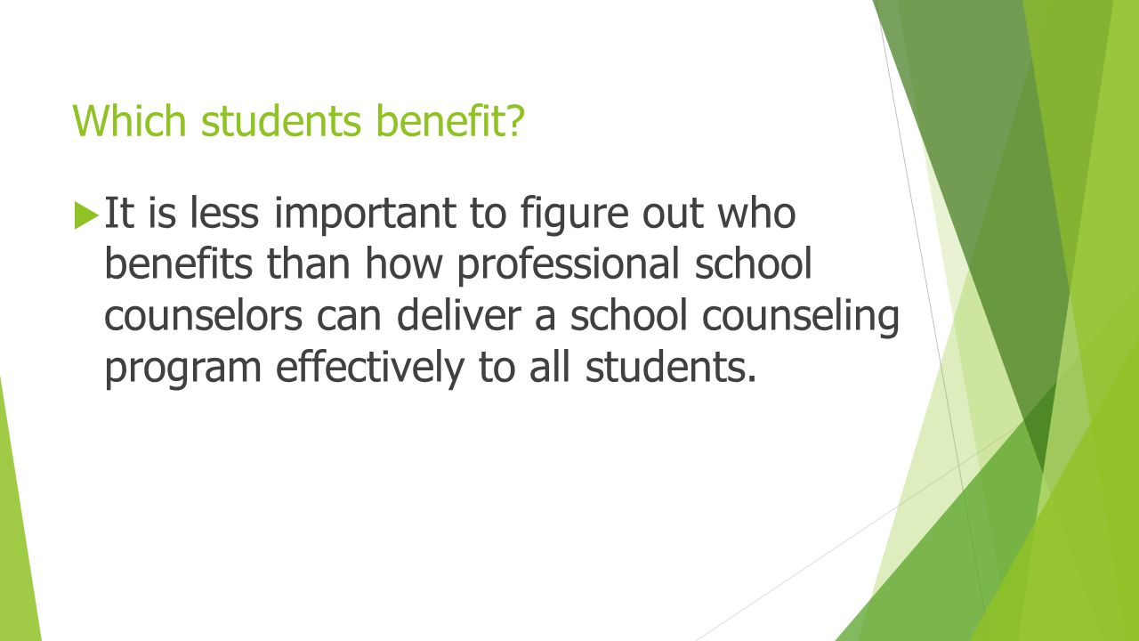 Which students benefit