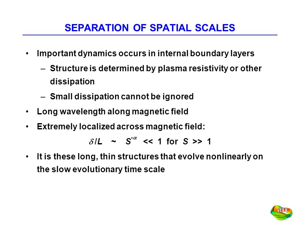 SEPARATION OF SPATIAL SCALES