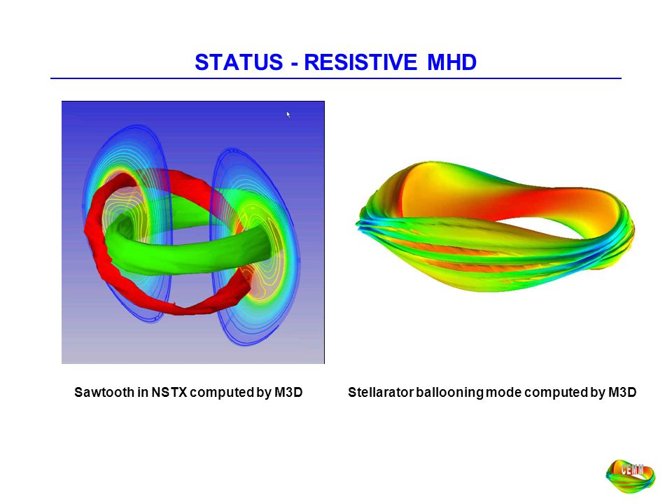 STATUS - RESISTIVE MHD Sawtooth in NSTX computed by M3D
