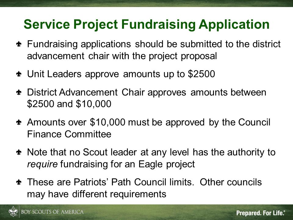 Service Project Fundraising Application