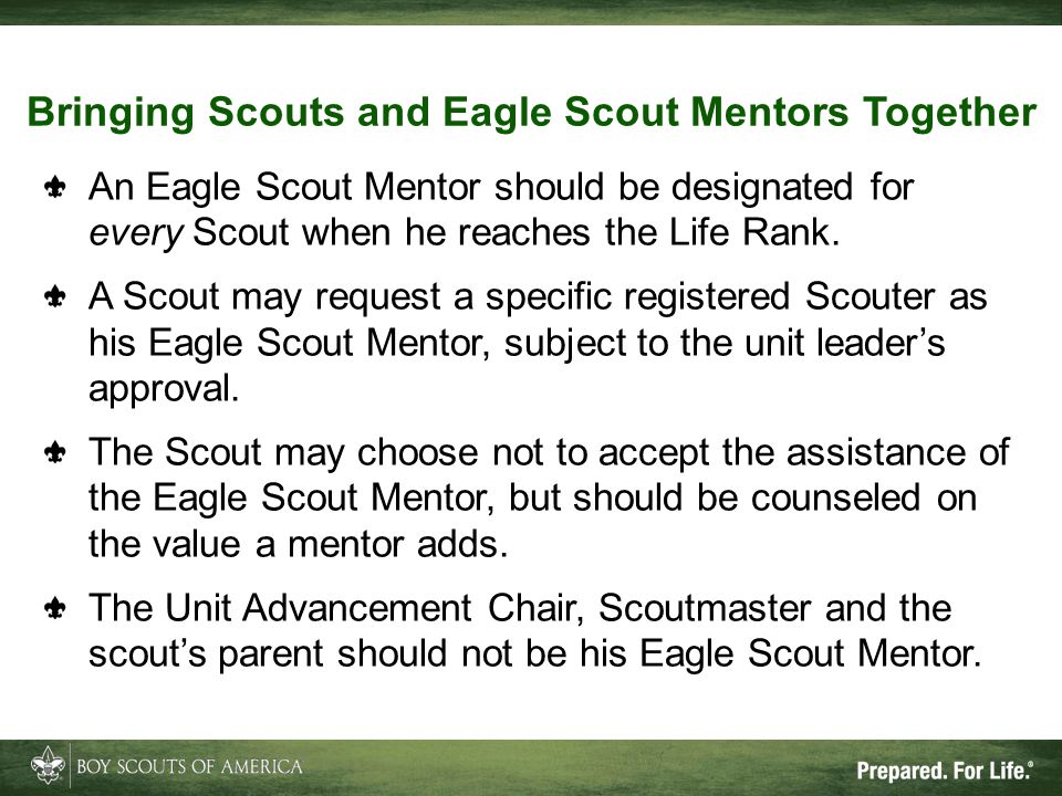 Bringing Scouts and Eagle Scout Mentors Together