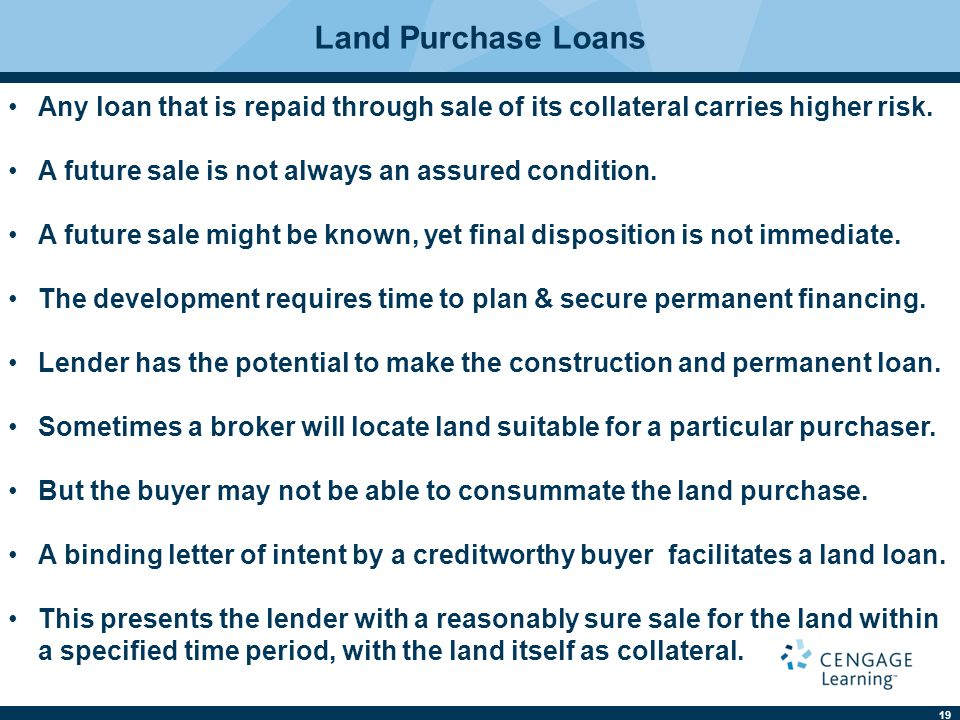 Real estate finance ninth edition ppt download for Lenders for land purchase