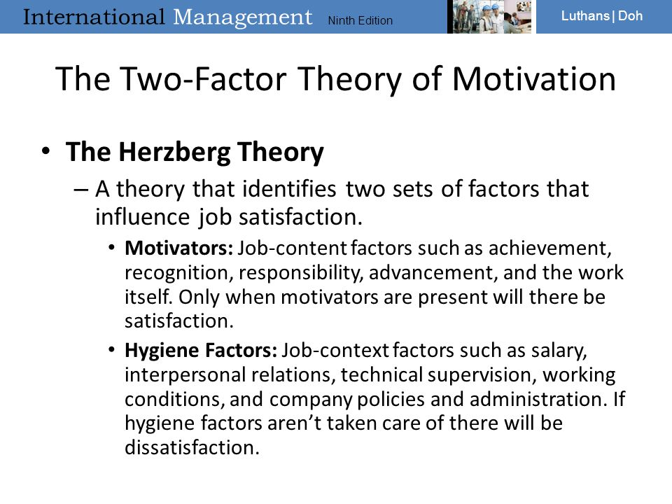 relationship between job satisfaction and motivation theory
