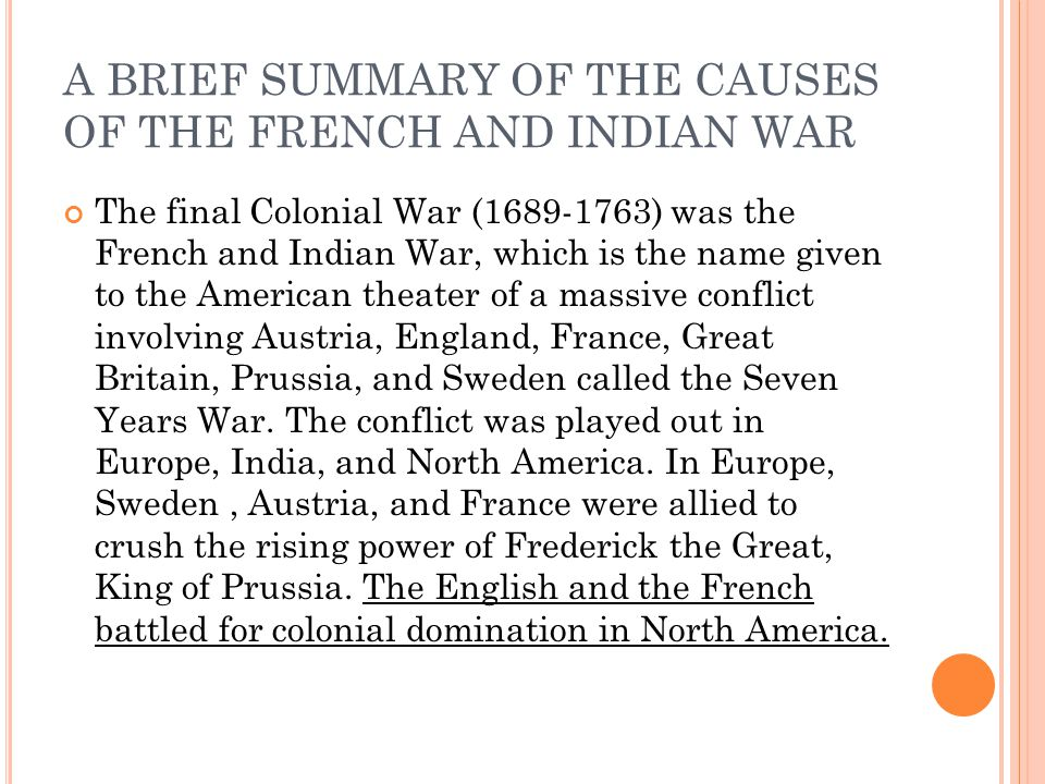 an overview of the french and indian wars 1689 1763 A brief overview of the relationship between the english and  before the official end of the french and indian war in 1763  wars, 1689 -1762 (chicago and.
