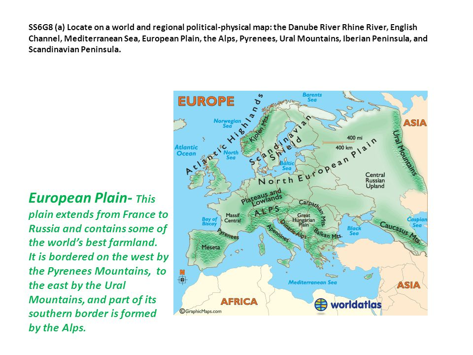 SSG Locate Selected Features Of Europe Ppt Video Online Download - Danube river on world map
