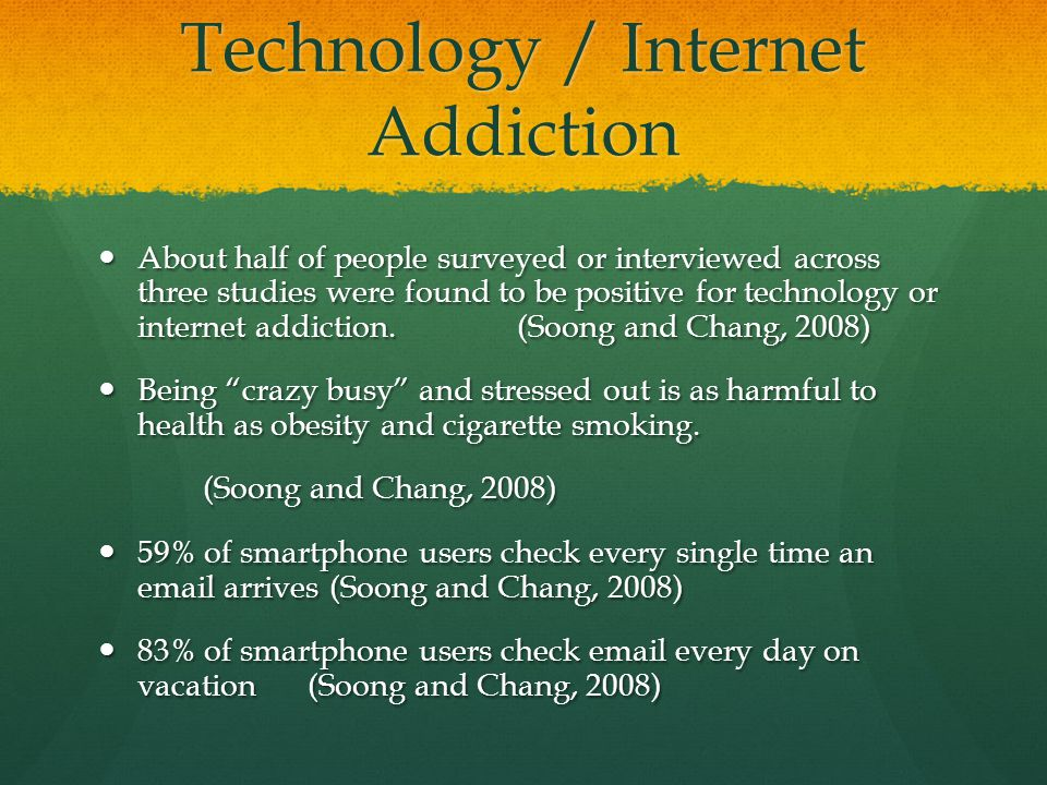 causes and effects of internet addiction Yashpalsinh jadeja, dealing with internet addiction answered aug 20, 2016 one of the most prevalent causes of internet addiction is the immediate response and feedback that we receive.