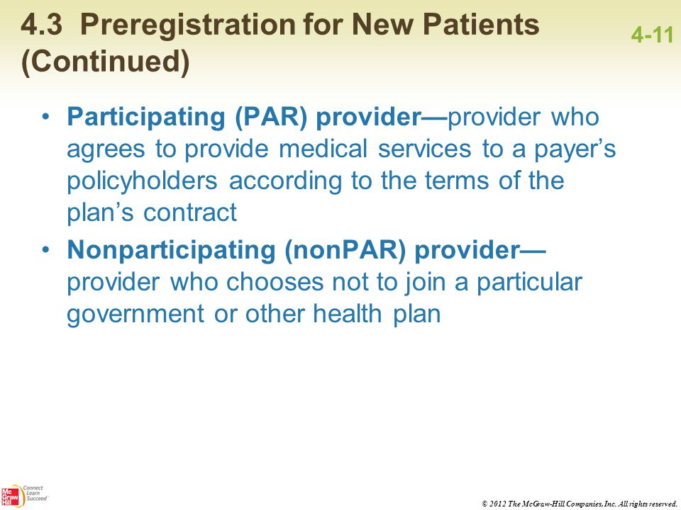 4.3 Preregistration for New Patients (Continued)
