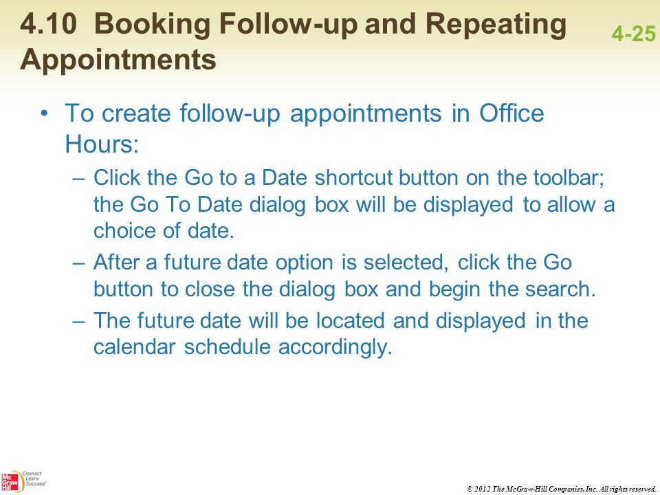 4.10 Booking Follow-up and Repeating Appointments