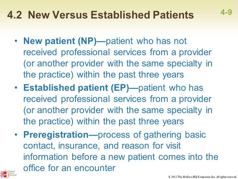 4.2 New Versus Established Patients