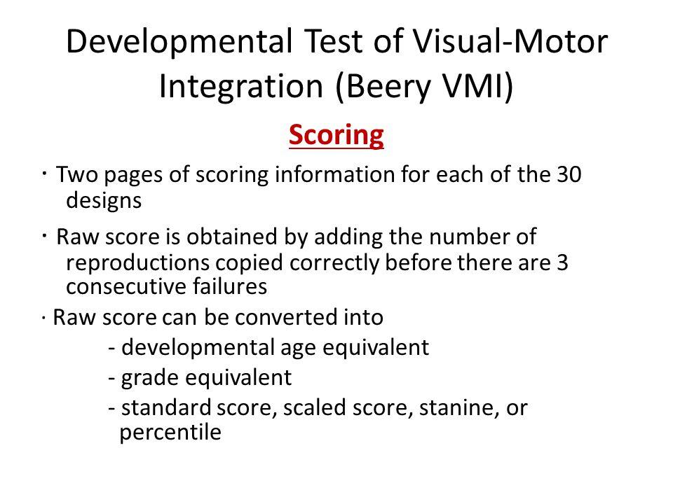 Vmi visual motor integration for Beery vmi motor coordination