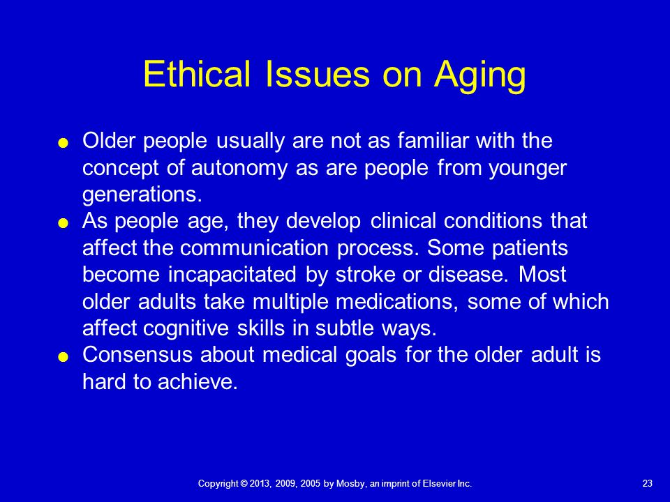 ethical challeges for the elderly J clin nurs 2005 nov14(10):1248-56 ethical challenges in the care of older  people and risk of being burned out among male nurses nordam a(1), torjuul k, .
