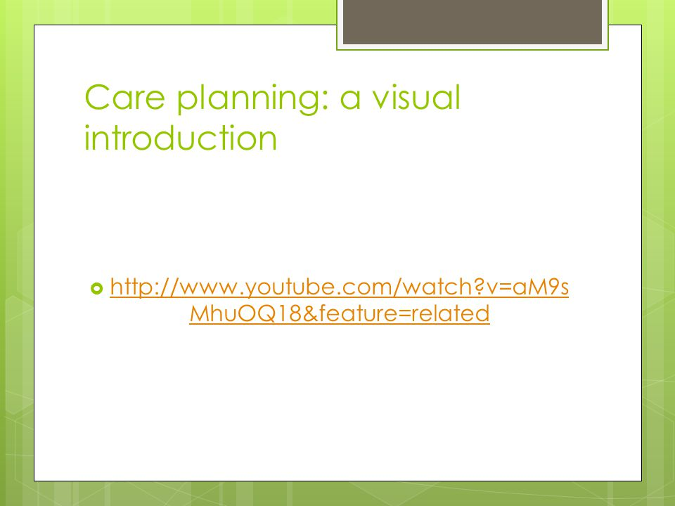Care planning: a visual introduction