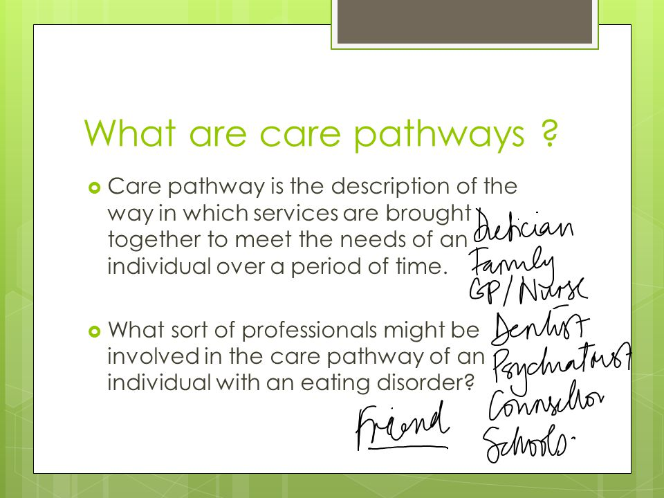 What are care pathways