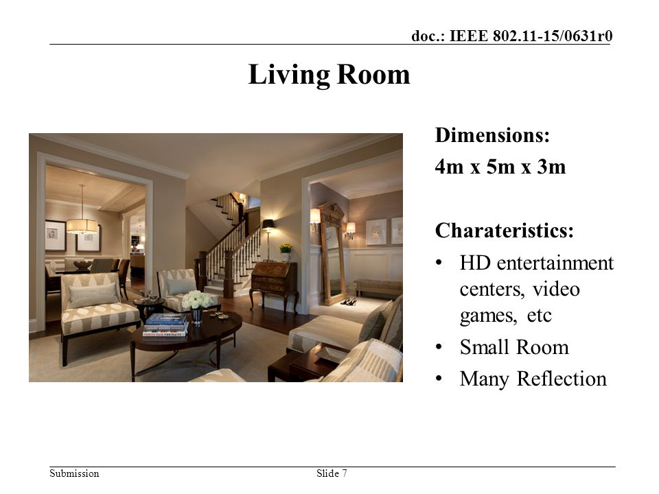 Living Room Dimensions: 4m x 5m x 3m Charateristics: