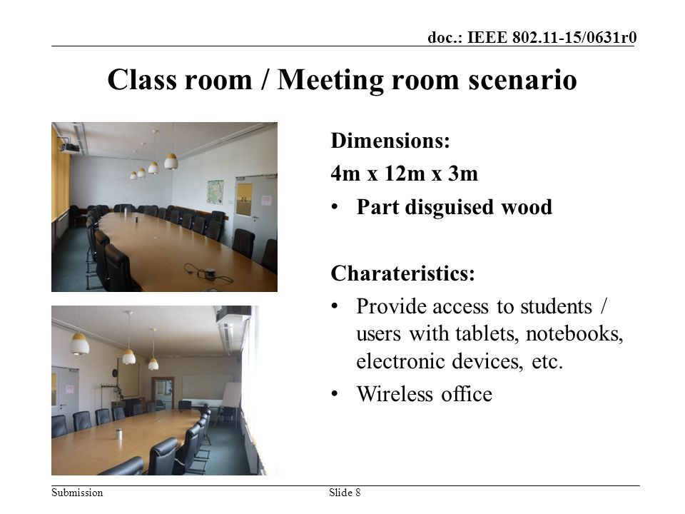 Class room / Meeting room scenario