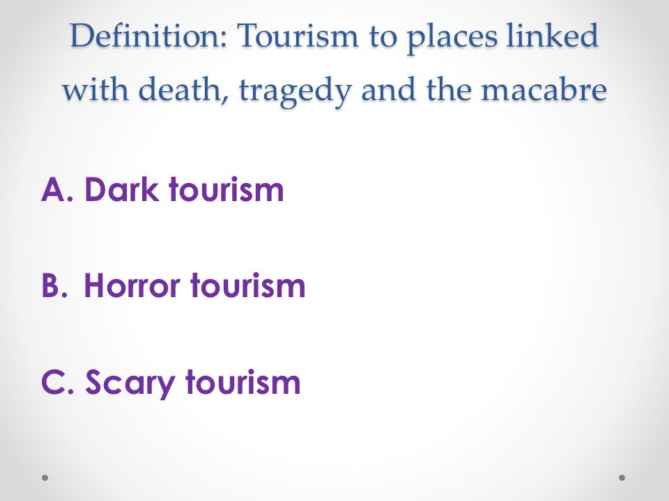 Definition essay frightening place