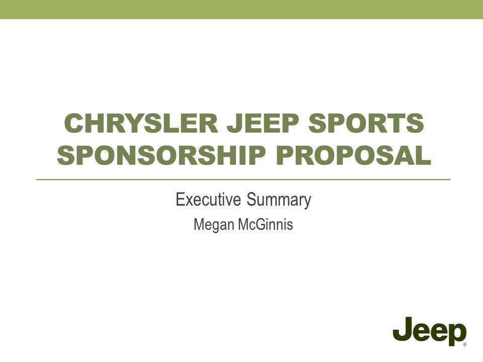 Chrysler Jeep sports sponsorship Proposal