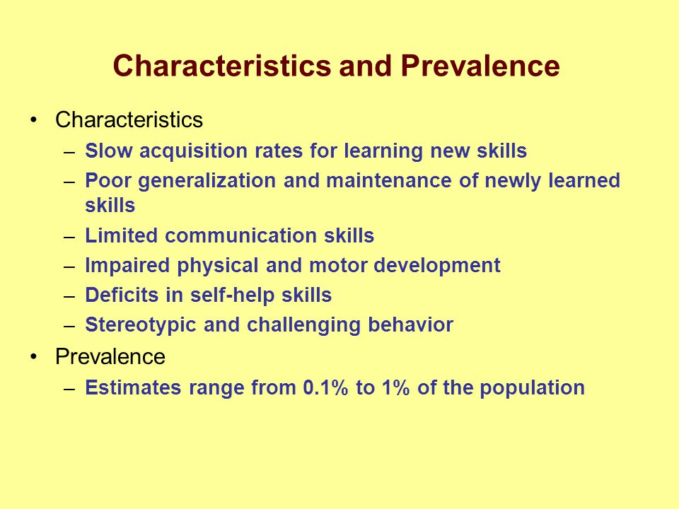 Characteristics and Prevalence