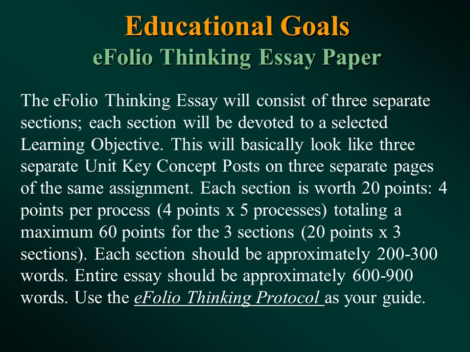 professor of psychology psychology department ppt  19 educational goals efolio thinking essay paper