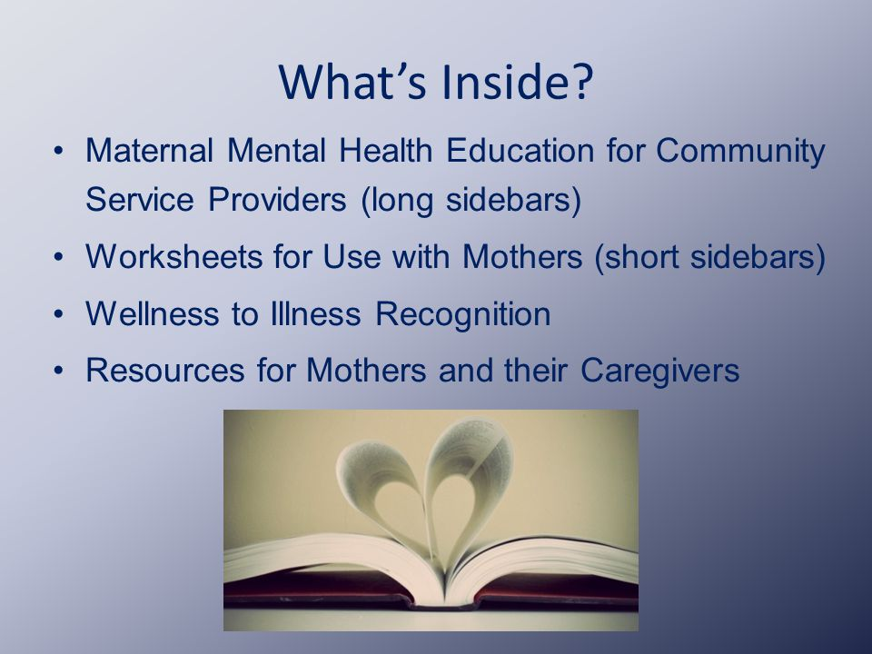 Mothers' Mental Health Toolkit - ppt video online download