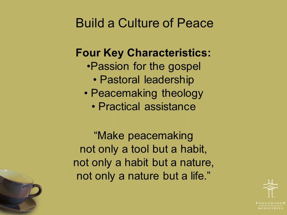 Four Key Characteristics: