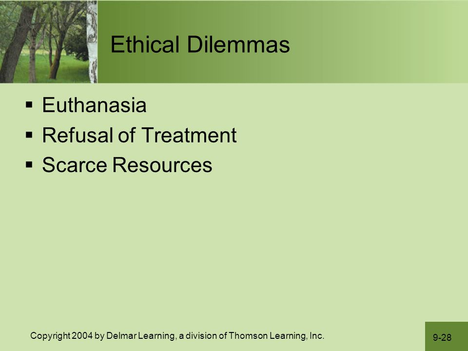 euthanasia and ethical dilemma Posts about death & assisted dying written by impact ethics  that have shaped  their anti-euthanasia and anti-assisted suicide mindset.