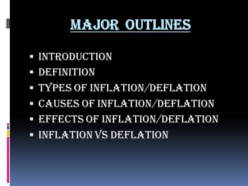 the definitions of inflation and deflation When economists talk about inflation, they mean that prices are very high, and it  takes more cash to buy things deflation is the opposite—it's also known as a.