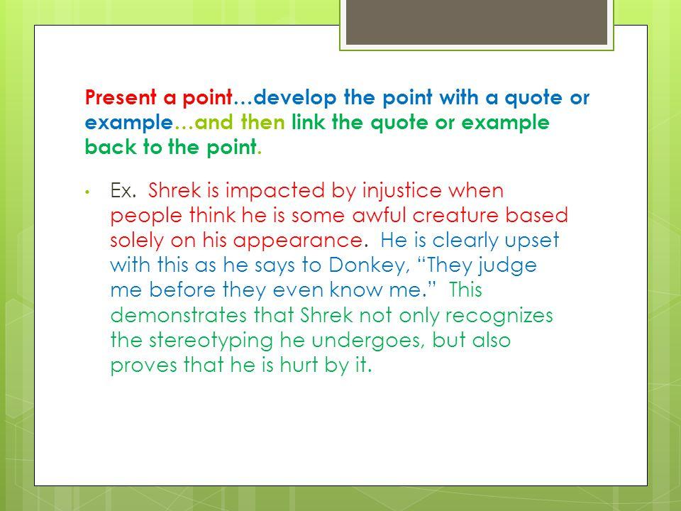 feedback for shrek essays ppt video online 3 present