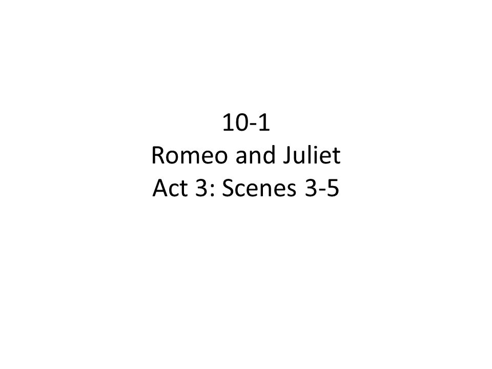 romeo and juliet critical essay act 3 scene 1