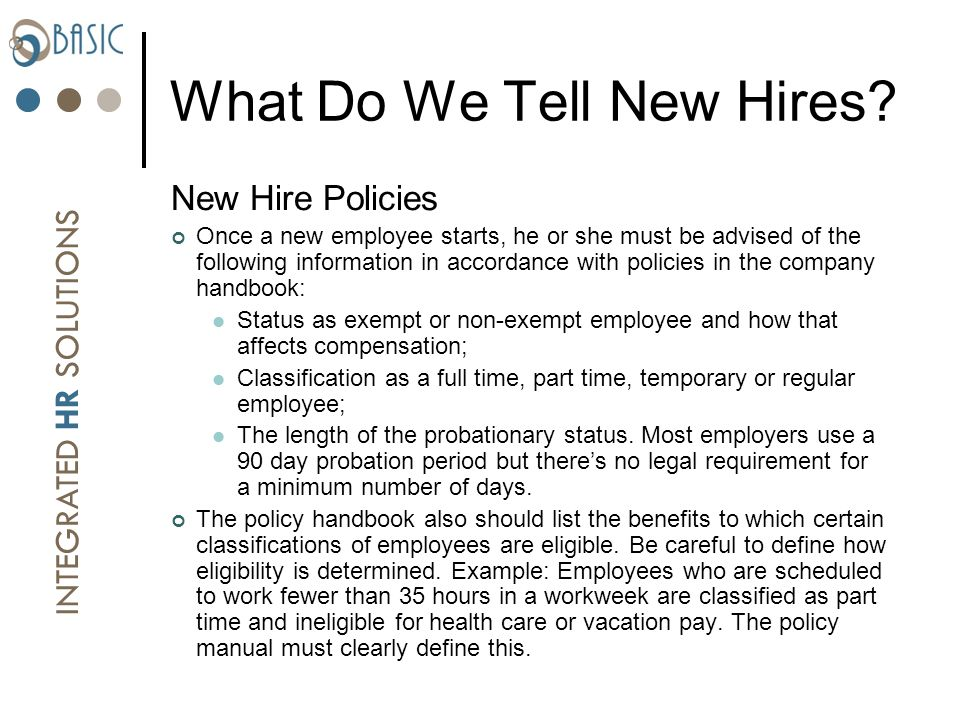 Employee Handbooks Issues That Need To Be Addressed And Avoided Ppt Video Online Download