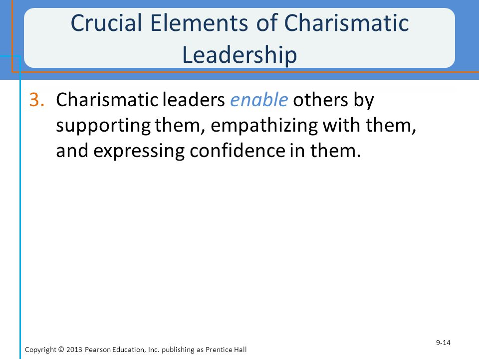 Crucial Elements of Charismatic Leadership