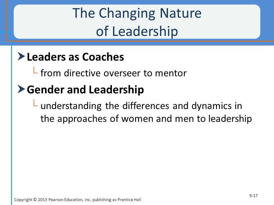 The Changing Nature of Leadership
