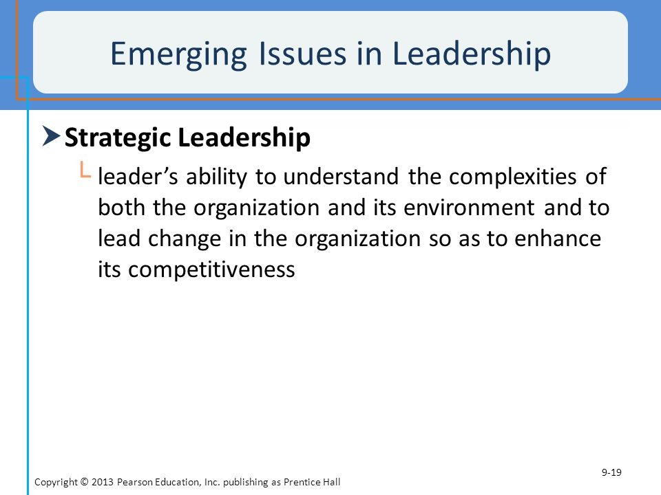 Emerging Issues in Leadership