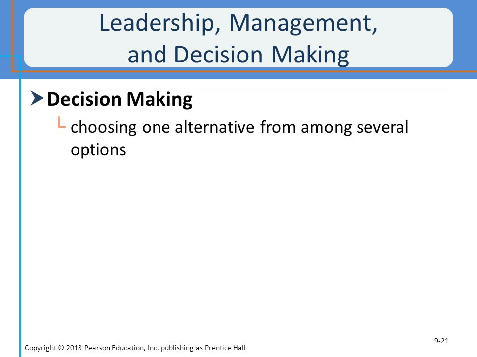 Leadership, Management, and Decision Making