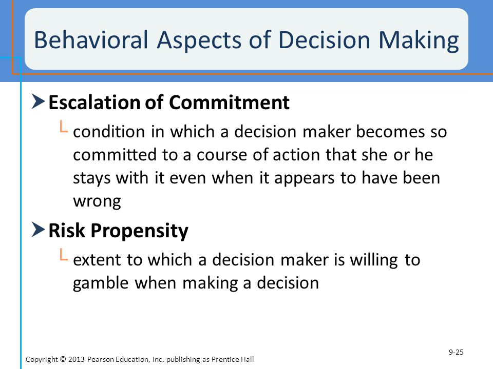 Behavioral Aspects of Decision Making