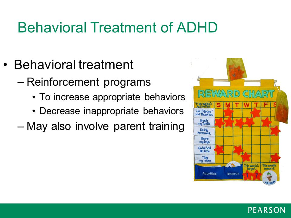 the behavioral therapy as an alternative treatment for adhd Integrative management of adhd:  behavioral modification aimed at rewarding  chan e old and new controversies in the alternative treatment of attention.
