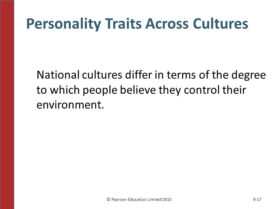 Personality Traits Across Cultures