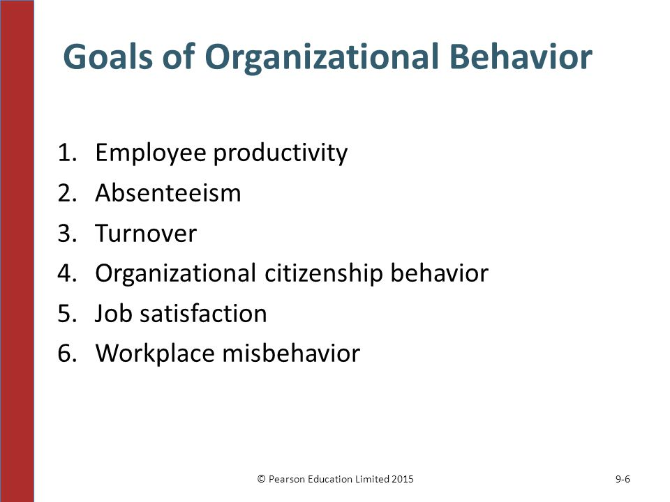 Goals of Organizational Behavior