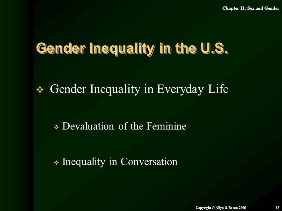 Gender Inequality in the U.S.