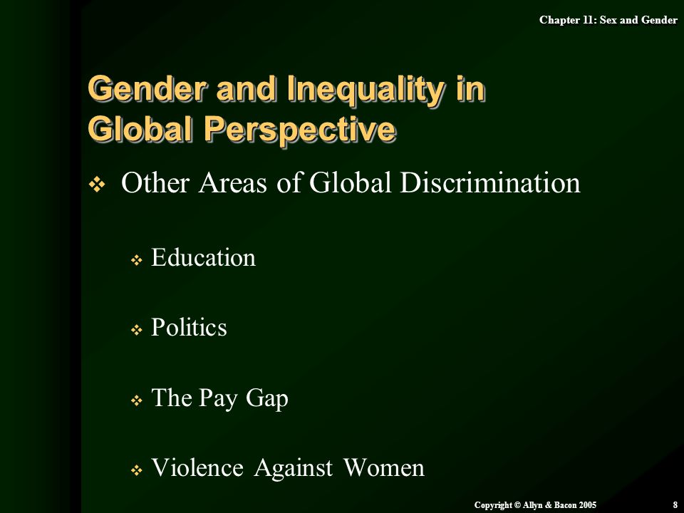 Gender and Inequality in Global Perspective