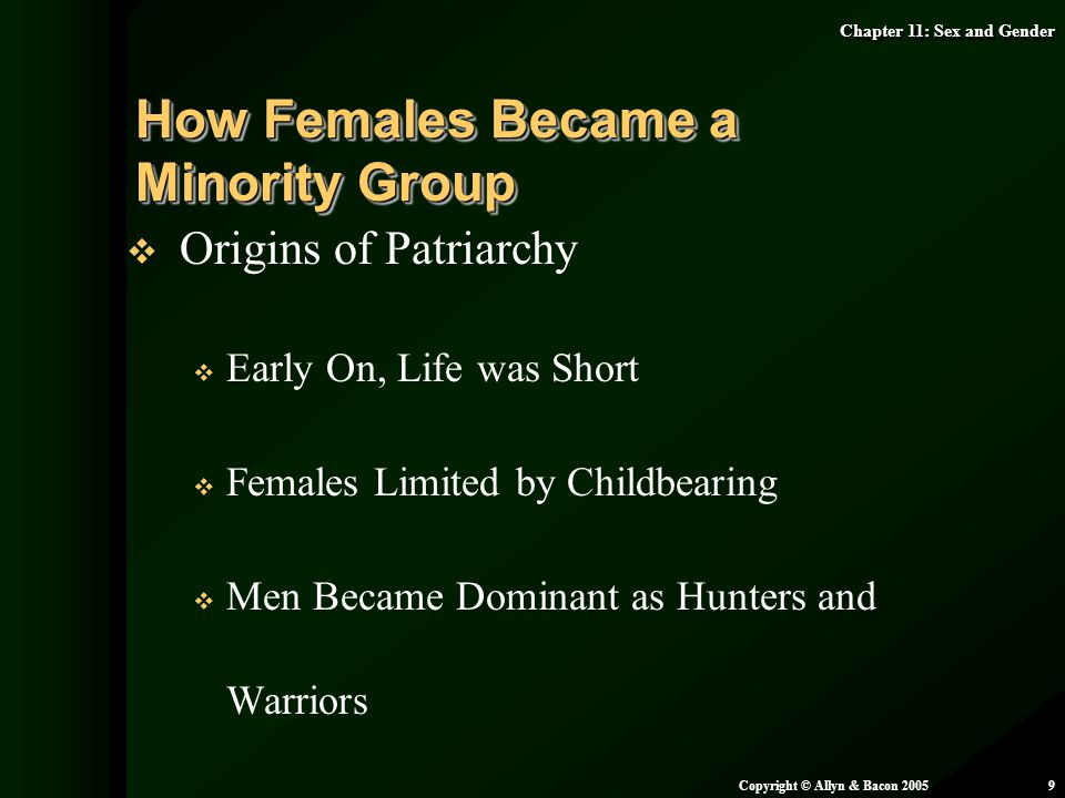 How Females Became a Minority Group