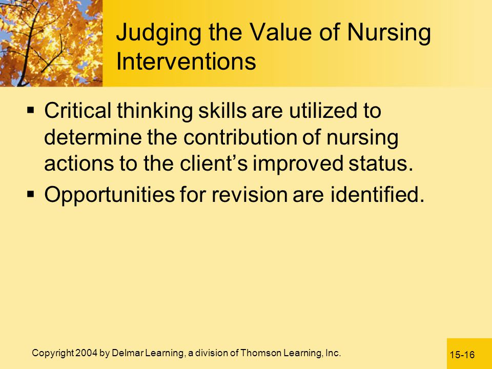 Judging the Value of Nursing Interventions