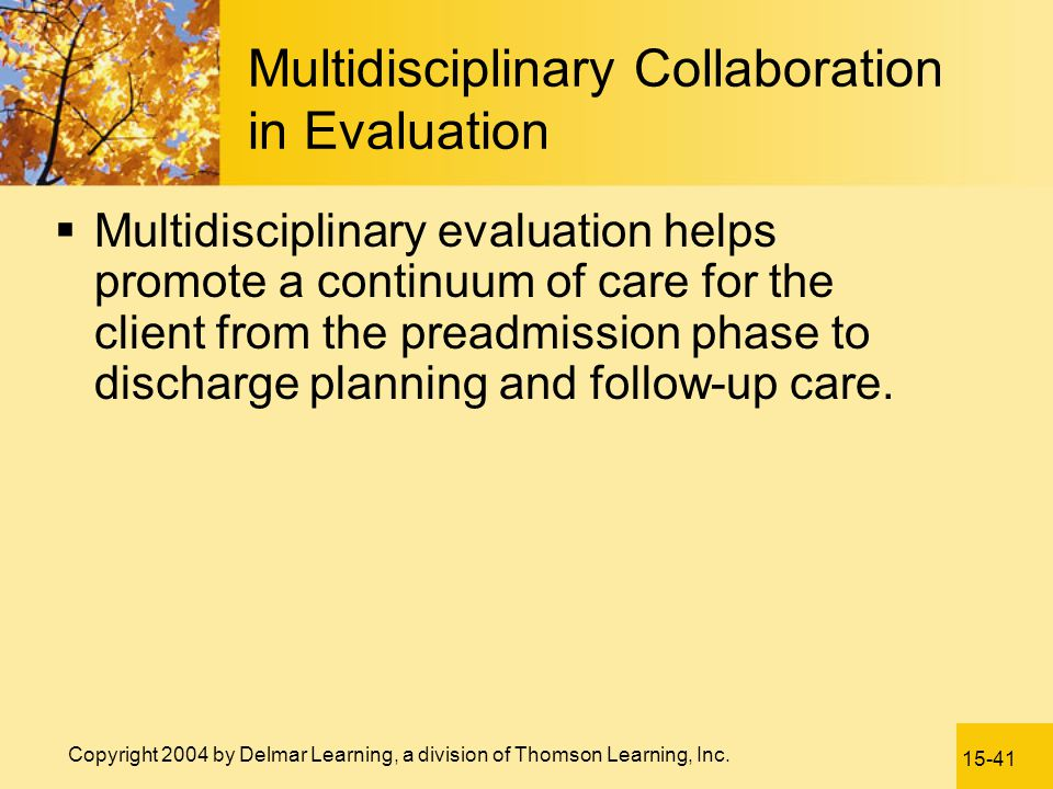 Multidisciplinary Collaboration in Evaluation