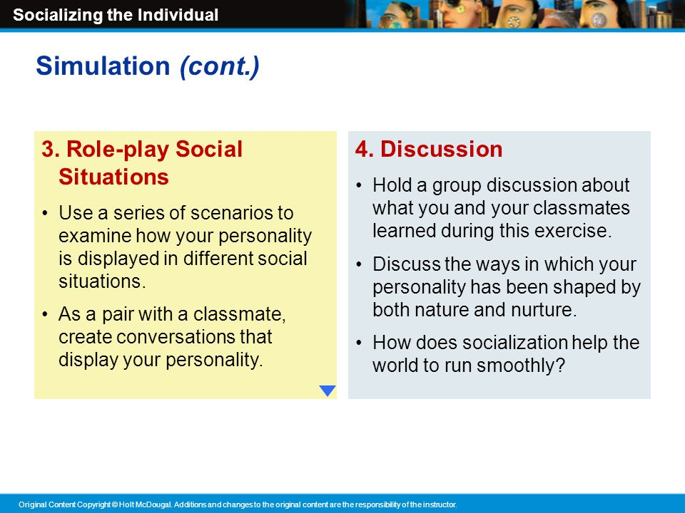 a discussion of the role of culture on peoples behavior And this is part of the socialization process as well the culture of an individual influences  so the mother plays the most important role because.