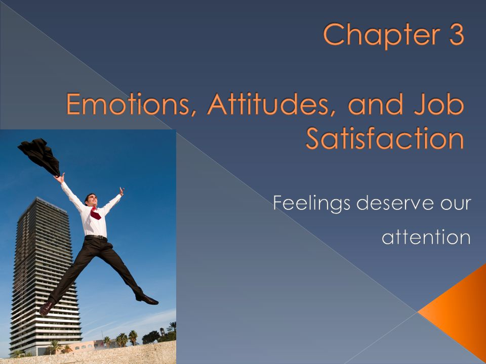 Chapter 3 Emotions, Attitudes, and Job Satisfaction