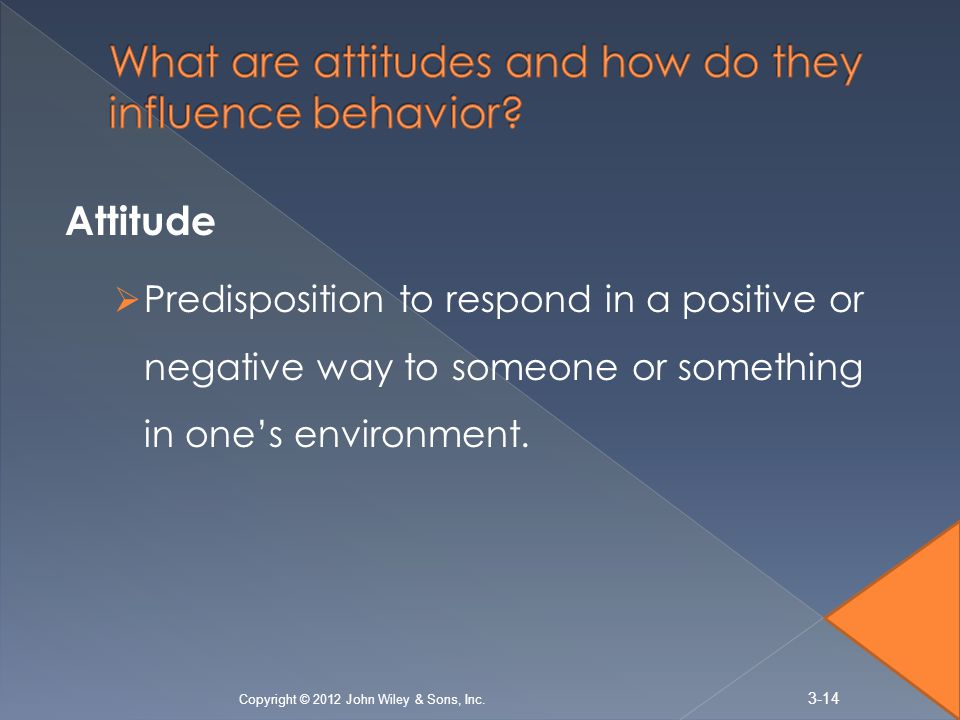What are attitudes and how do they influence behavior